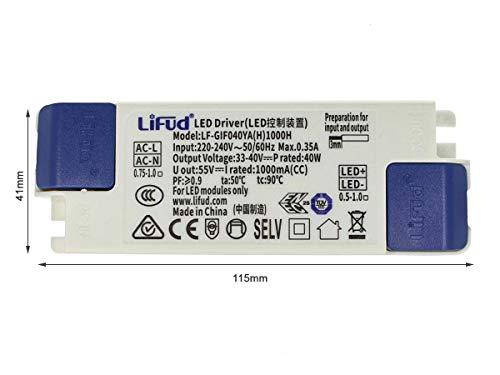 LEDLUX CC4460 Controlador Led DC 1000mA DC 33V-40V 40W Fuente de alimentación de corriente constante para Panel Led 60X60cm