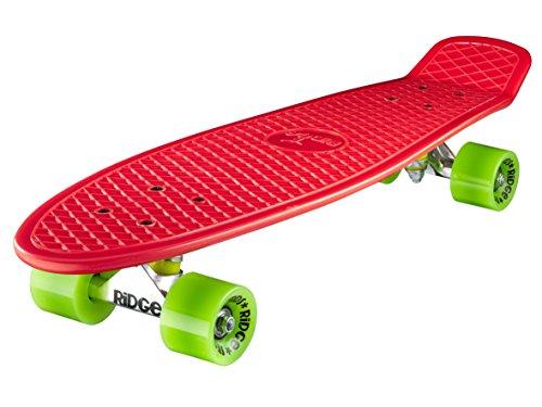 Ridge Skateboard Big Brother Nickel 69 cm Mini Cruiser, rot/grün