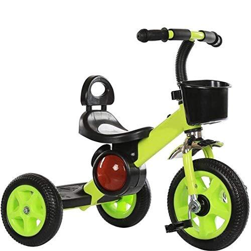 YEXINTMF Balance Car Bicis for niños 3 Ruedas Niños Niñas Triciclos for niños pequeños Triciclos Equilibrado for niños de 1 a 6 años (Color : Green)