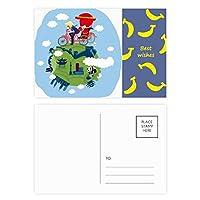 中国の万里の長城の芸術 バナナのポストカードセットサンクスカード郵送側20個