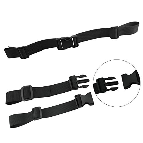 XAVSWRDE 2 Pcs Backpack Chest Straps Universal Chest Belt Adjustable Sternum Strap Support Chest Straps for Backpack, Rucksack Chest Strap with Quick Release Buckle for Hiking, Jogging (Black)
