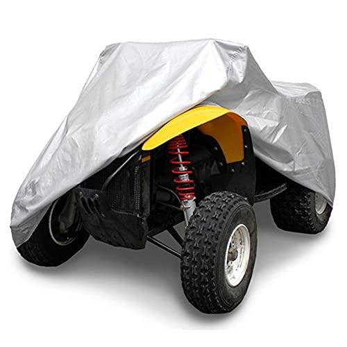 QLIGHA Cubierta Protectora De Playa para Motocicleta, Cubierta De Tela Oxford 210D, Cubierta Protectora Resistente para Motocicleta, Vehículo, Scooter, ATV, Cubierta De Motor Cuádruple