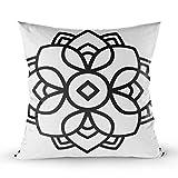 Funda de Cojine Funda Cojin Throw Cojín Caso Fundas de Almohada Forma Mandala Simple Para Colorear Con Flores Florales Contorno Página 45 X 45 CM