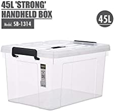 HOUZE Strong Handheld Box, 45 L, Clear