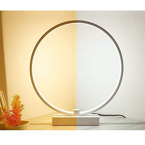 LED cirkel tafellamp & bureaulamp modern minimalistisch design 24W ingebouwde lichtbron, LED modelleerkamp acryl perfect voor lenzen