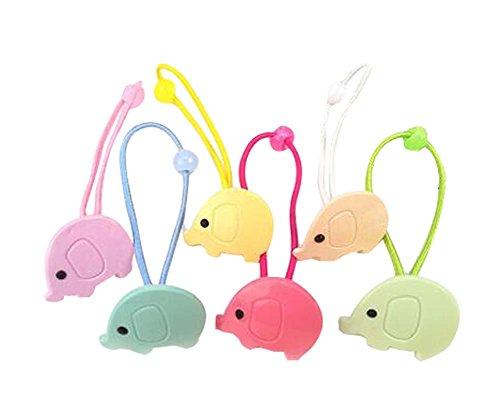 Porte Elephants Baby Style Enfants Elastic cheveux Ponytail Cordes cheveux, 12 pièces