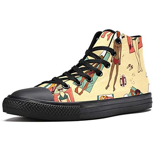LoRVIES - Zapatillas de deporte para mujer con diseño de flores, (multicolor), 43 EU