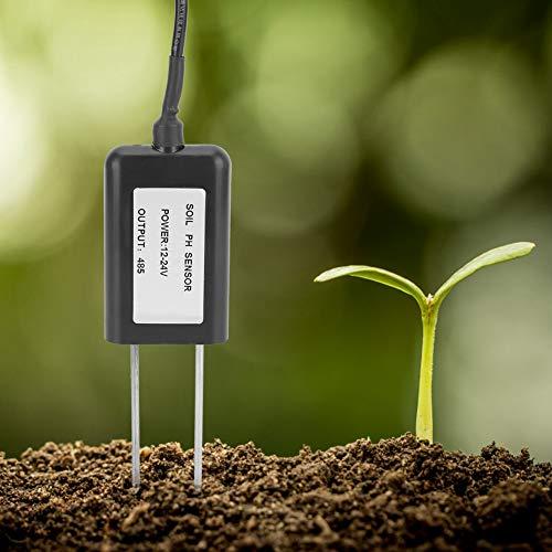 Wosune Medidor de pH del Suelo de 5.3 x 1.8 x 0.6in, Sensor de pH del Suelo, ABS para Tratamiento de Aguas residuales de medición rápida del Suelo