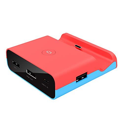 Base de carga para Nintendo Switch, USB tipo C, adaptador HDMI, soporte de pantalla, 1080P, extensión de pantalla grande