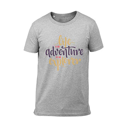 Wild Soul Tees Men's T-Shirt Life is an Adventure Be an Explorer Lettering...