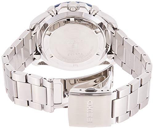 Seiko Hommes Chronographe Quartz Montre avec Bracelet en Acier Inoxydable SSB259P1