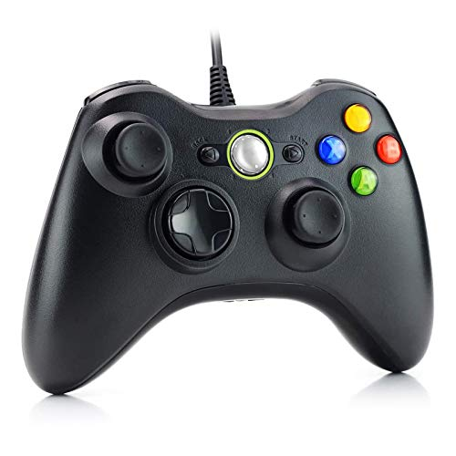 Dhaose Xbox 360 Game Controller, Wired Game Controller Gamepad controller di design ergonomico migliorato per Xbox 360 PC Windows 7/ 8 / 10