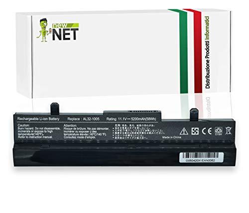New Net - Batería AL31-1005 AL32-1005 TL31-1005 ML32-1005 ML31-1005 compatible con Asus Eee PC 1001H 1001HA 1001P 1001PX 1005 1005P [10,8/1111,11,1,1,1,1 V - 5200 mAh]