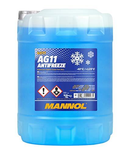 MANNOL 15777100000 Antifreeze AG11-40 Kühlerfrostschutz Kühlmittel, 10 Liter