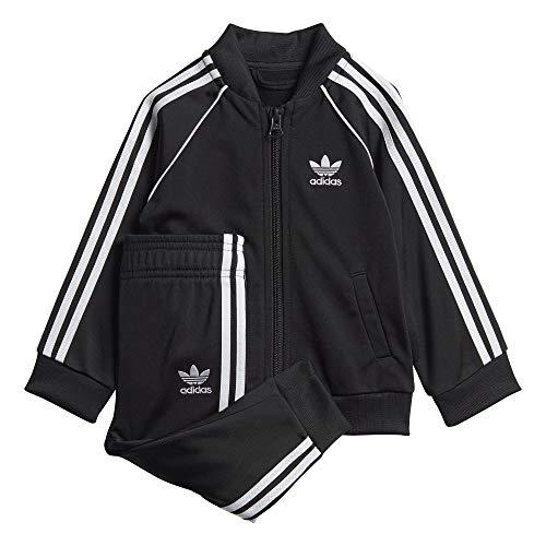 adidas SST Tracksuit, Tuta Unisex Bimbi, Black/White, 2-3Y