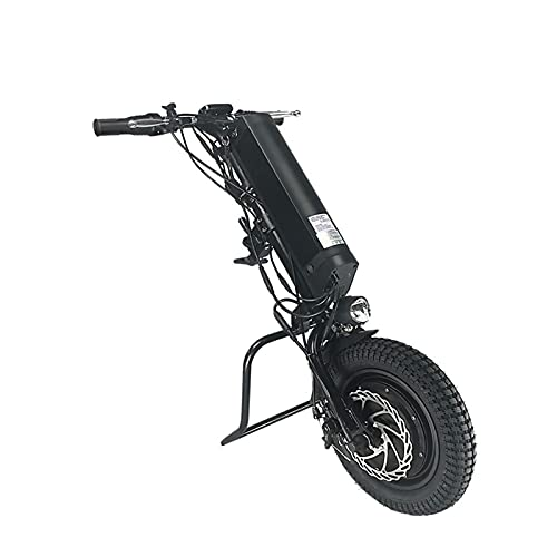 GMtes 500W Propulsore Elettronico Anteriore per Carrozzina,Sedia a Rotelle Handbike Elettrica handcycle Allegato Sedia a Rotelle,Kit di Conversione per Sedia a Rotelle Elettrico,36V 11,6Ah Batteria