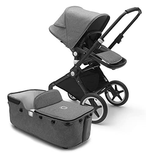 Bugaboo Lynx Kinderwagen – Zusammenklappbarer Babywagen – Leicht und robust mit Guckloch im Sonnenverdeck – Von der Geburt bis zum Kleinkindalter – In Grau-Melange