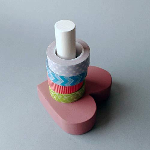 Dispensador de cintas decorativas y washi tapes con forma de corazón - Herramientas para scrapbooking - Suministros para bujo