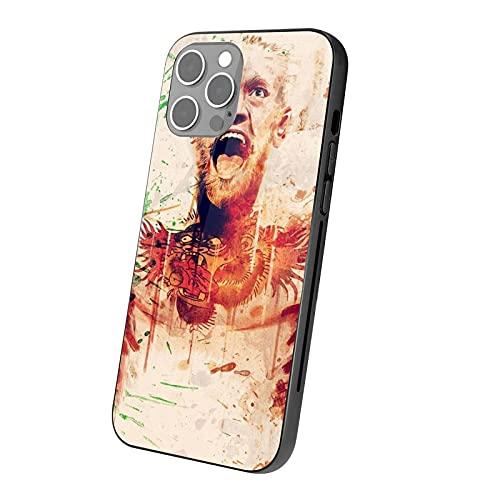DJNGN Custodia in vetro Conor McGregor Man per iPhone serie 12 Custodia protettiva in vetro temperato TPU
