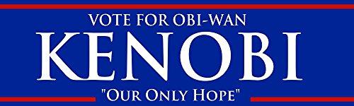 BuildASign Vote for OBI-Wan Kenobi Our Only Hope Funny Bumper Magnets