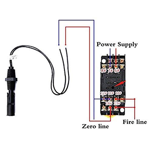 Nrpfell Sensor de Nivel de Agua con Interruptor de Flotador de L/íquido Horizontal de Montaje Lateral de 6 Piezas