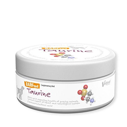 Vetfood BARFeed Taurin | Unterstützt das Zentralnervensystem | Stärkt die Herz- und Augenfunktionen | Barf für Katzen & Hunde | Rohfütterung | 150 g