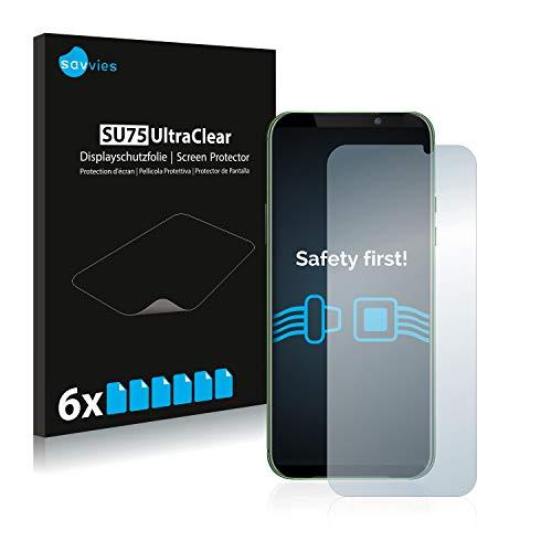 Savvies 6X Schutzfolie kompatibel mit Xiaomi Black Shark 2 Pro Bildschirmschutz-Folie Ultra-transparent