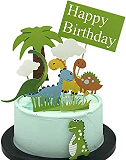 FWE Top decoration of dinosaur cake, top decoration of cake happy birthday cake top decoration of cake (11 pieces)