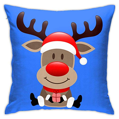 Throw Pillow Cover Cushion Cover Pillow Cases Decorative Linen Christmas Reindeer for Home Bed Decor Pillowcase,45x45CM