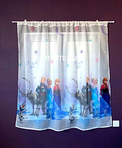 Polontex Disney - Cortinas para habitación infantil (75 x 136 cm), diseño de Frozen