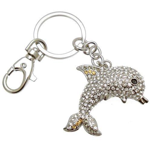 Acosta - diseño de delfín de cristal de adorno para el bolso/llavero
