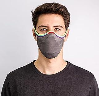 Máscara FIBER Knit Sport + Filtro de Proteção + Suporte (Cinza Pride, G)