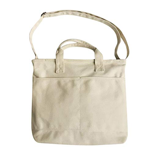 MAJFK - Bolsa de lona para mujer, de tela de algodón, reutilizable, para mujer