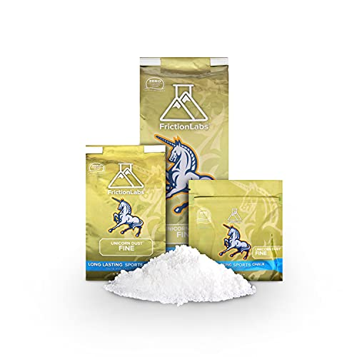 Friction Labs Unicorn Dust 10oz (283g) - Fine Texture - The New Standard in Chalk for Rock Climbing, Crossfit, and Powerlifting, Chalk White (FL-CHALK-UD-10)