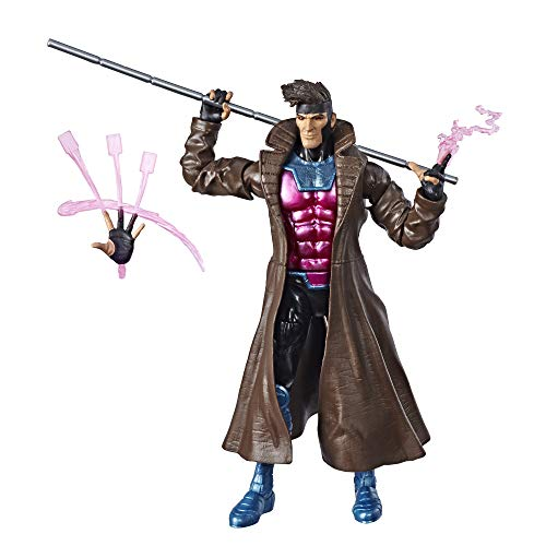"""Marvel Hasbro Legends Series 6"""" Collectible Action Figure Gambit Toy (X-Men Collection)"""