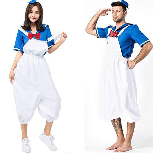 None/Brand Disfraces De Cosplay De Pato Animal Adulto Pijamas De Pareja De Dibujos Animados Donald Hallowee Navidadpara Mujeres y Hombres