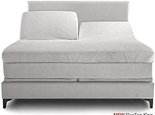 Split Queen - 100% Cotton Split-Top-Queen (Adjustable Queen Bed Size Sheets) 300TC, Solid Sage, Sateen Weave, 15 inch Deep Pocket, 4PC Bed Sheet Set