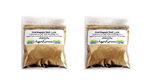 Gold Magnetic Sand 4oz - 2 Packs of 4oz Each (Total 8oz)