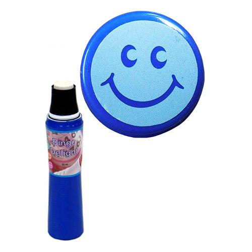Power Dot Bingo Delight Blue Smiley Face Bingo Dauber