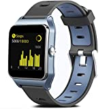 MorePro GPS Running Smart Watch, Fitness Tracker Waterproof Pedometer Exercise Watch with 17 Sport Mode Touch Screen Heart Rate Step Sleep Monitor for Women Men Compatible with iPhone Android