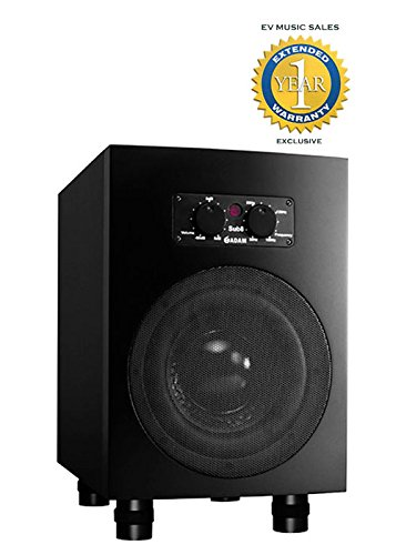 Adam Audio Sub8 Powered Studio Subwoofer Black with 1 Year Free Extended Warranty