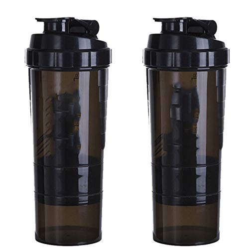 N \ A Blender Bottle Shaker, Inspiring Fitness Workout Sports Protein Shaker Bottle, 22 Ounce Protein Blender Bottle And Two Containers
