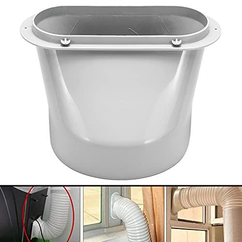 Adaptador de escape de ventana, 130/150 mm, conector roscado para manguera de tubo de ventilación de aire acondicionado (M)