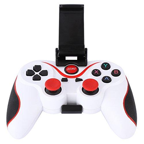 Android Game Controller, Wireless Bluetooth Gamepad Gaming Controller Joystick mit verstellbarer Halterung Halterung für Android Smartphone Tablets/PC Smart TV/TV-Boxen