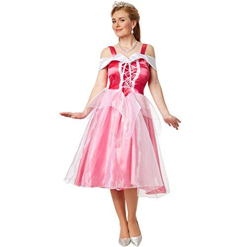 dressforfun Kostüm Prinzessin Aurora | Abendkleid zum Schnüren mit eingenähtem Tüll-Unterrock (L | no. 301875)