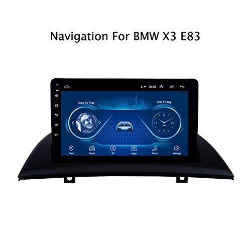 para BMW X3 E83 2004-2012 Sistema de navegación por satélite GPS Navigator Seguidor de Jugador de Radio de la Pantalla táctil del Espejo Enlace WiFi Bluetooth