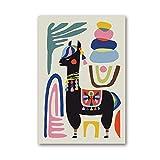 N / A Chameau Affiche alpaga Moutons Maison Inspiration Mur Art Toile Peinture Mur Art pépinière Impression décoration sans Cadre 42x60 cm