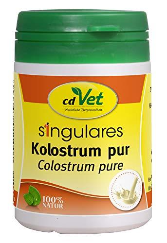cdVet Naturprodukte Singulares Kolostrum pur 30 g - Hund, Katze, Pferd - reich an Mineralien+Vitaminen+Spurenelementen+Aminosäuren - Stärkung des Immunsystems+Vitalität - appetitanregend -