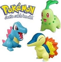 Chikorita - Cyndaquil - Totodile Pokemon Colection Set