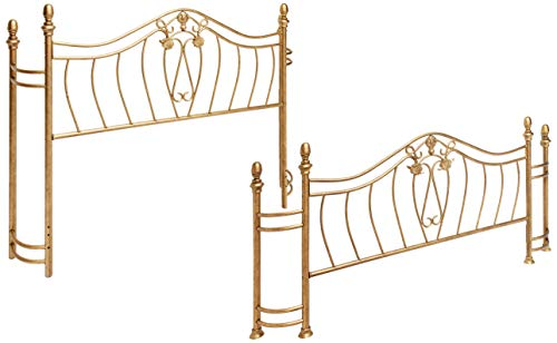 Coaster Home Furnishings Sydney Modern Traditional Hand Brushed Metal Bed - Queen - Antique Brushed Gold ( Headboard & Footboard Only )
